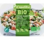 photo Patate douce grillée, boulghour, légumes verts, chèvre, sauce aux herbes bio