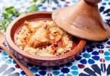 tajine au poulet semoule et fruits secs