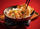 wonton au poulet sauce chili et riz