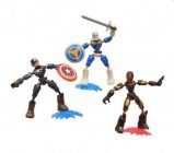 coffret 3 figurines avengers bend and flex - 15 cm