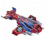figurine et vehicule - spider-man far from home - spider-jet