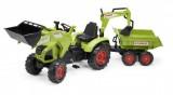 tracteur a pedales - class axos 330 avec remorque