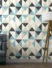 papier peint bill expanse sur intisse motif polygone geome