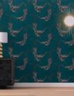 papier peint colibri 100% intisse motif oiseaux bleu
