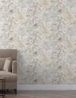 papier peint coventry vinyle sur intisse motif floral bei