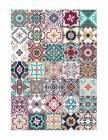 tapis vinyle allegra motif carreaux de ciment