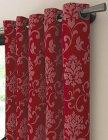 tissu arpegio opacifiant motif arasbesque rouge