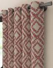 tissu azteque motif ethnique rouge