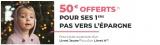 photo 50€ offerts pour toute ouverture d'un Livret A/Jeune