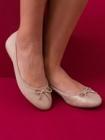 ballerines femme a noeud cuir irise laosa