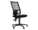 chaise de bureau - wima - noir/noir