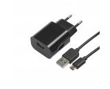chargeur usb secteur cable micro usb - apm - noir