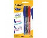 lot de 3 stylos rollers effacables gelocity - bic - noir/ble
