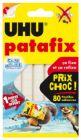patafix blanche lage de glace - uhu - 80 pastilles