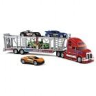 fast lane - camion transporteur avec voitures de course mini