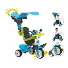 smoby - tricycle baby driver confort- bleu