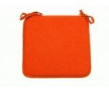 galette de chaise bistrot 41x35 coloris orange