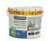 peinture blanche mur/plafond travaux courants mat 12l