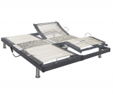 dreamea sommier relaxation 2x90x200 cm s50 gris anthracite