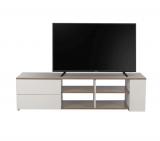 meuble tv brice blanc/checircne gris