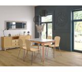 table l120/150 avec allonge lucie taupe/naturel