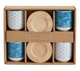 coffret 4 tasses baltique bleu