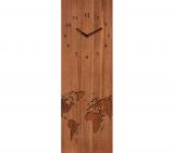 horloge en verre 20x60 time art marron