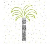 serviettes en papier 25x25 cm palmier vert