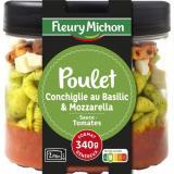 plat cuisineacute pouletconchiglies au basilic mozzarella fleury michon