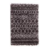 tapis tribal anthracite agrave motifs 100 x 150 cm