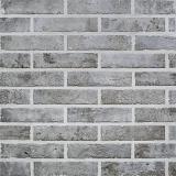 carrelage mur gris effet brique 6 x 25 cm brixton