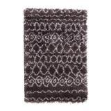 tapis tribal anthracite agrave motifs 150 x 200 cm