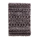 tapis tribal anthracite agrave motifs 60 x 90 cm
