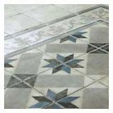 photo Frise sol et mur décor blanc/gris 20 x 20 cm 1930