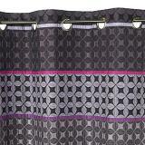 rideau colours kamini jacquard violet 140 x 250 cm