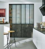 photo 2 portes de placard coulissantes Vulcano décor gris béton 120 x 245 cm