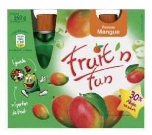 puree de fruits en gourdes