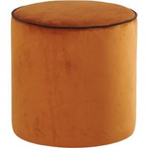 pouf countra orange/chocolat