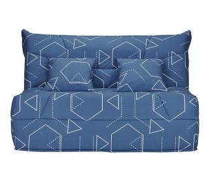 But Promo Banquette Lit Bz Celia Tissu Hexagone Bleu