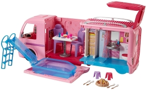 barbie camping-car transformable 50% deconomies