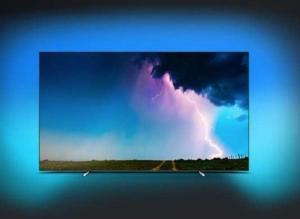 televiseur ecran plat 139 cm uhd 4k oled philips 55oled754