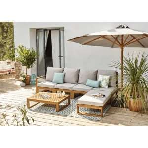 Gifi Promo salon de jardin 4 personnes en eucalyptus surabaya