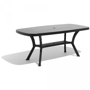 table de jardin rectangulaire 6 personnes gris