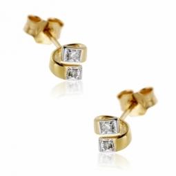 boucles doreilles en or rhodie diamants