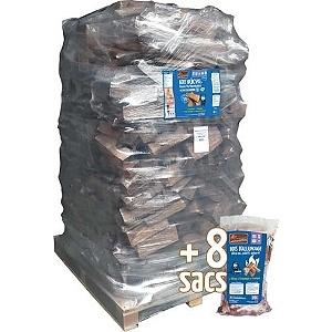 bois buches 40 cm et sacs bois allumage