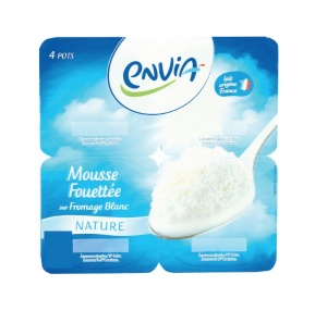 mousse fouettee sur fromage blanc
