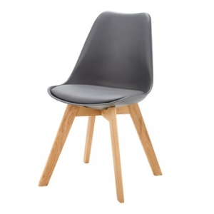 chaise scandinave gris anthracite ice