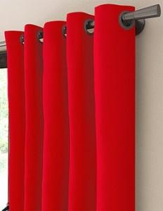 tissu bali uni coton rouge