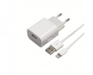 chargeur usb secteur cable lightning - apm - blanc